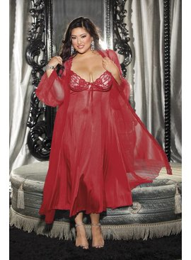 L Web Only 2 Piece Negligee Set - Plus Size