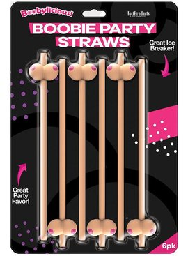 Hott Products Boobie Party Straw 6 Pack