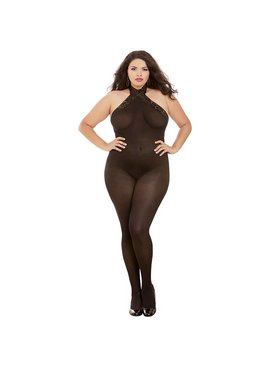 L Body Stockings Sheer Mesh and Lace Bodysuit