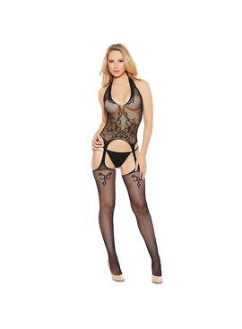 L Body Stockings Halter V-Neck Bodystocking
