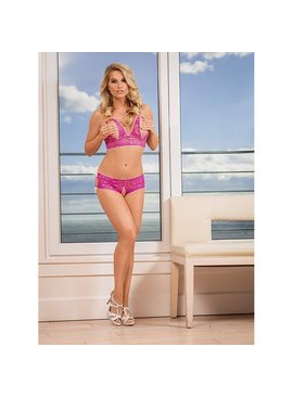 L Boxed Exposed Peek-a-Boo 2-Piece Set