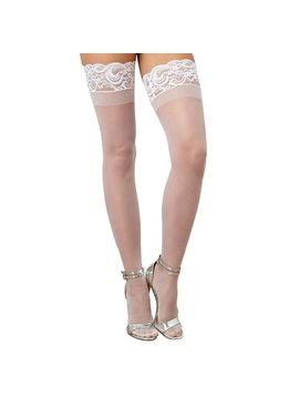 L Thigh Highs Sheer Thigh High with Stay Up Lace Top