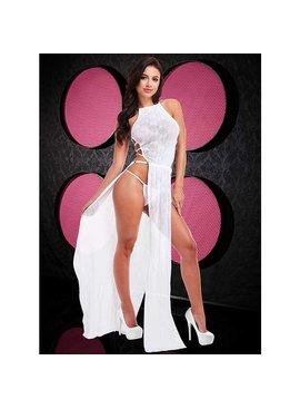 Lap Dance Lingerie White Lace Gown