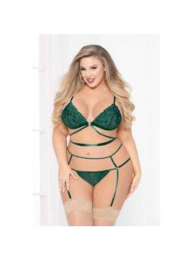 Strappy Emerald 2-Piece - Plus Size