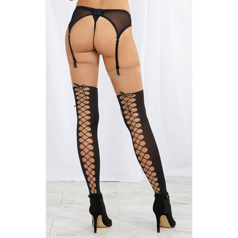 Dreamgirl Lingerie Laced Up Thigh Highs