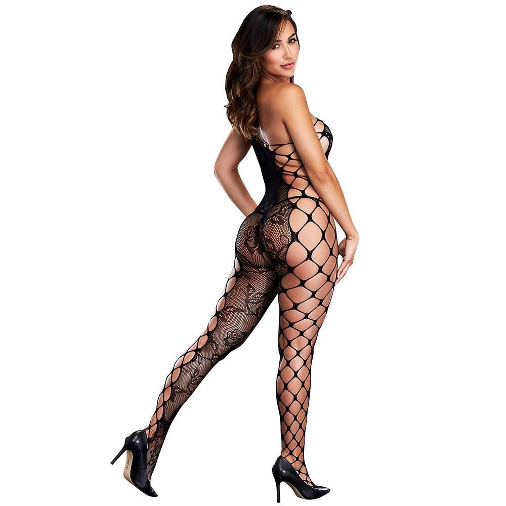 L Body Stockings Strappy Off Shoulder Bodystocking