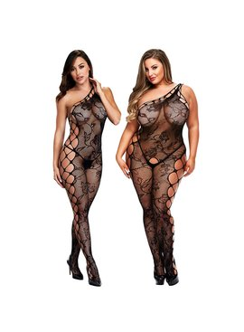 L Body Stockings Strappy Off Shoulder Bodystocking