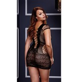 L Body Stockings Strap and Lace Mini Dress