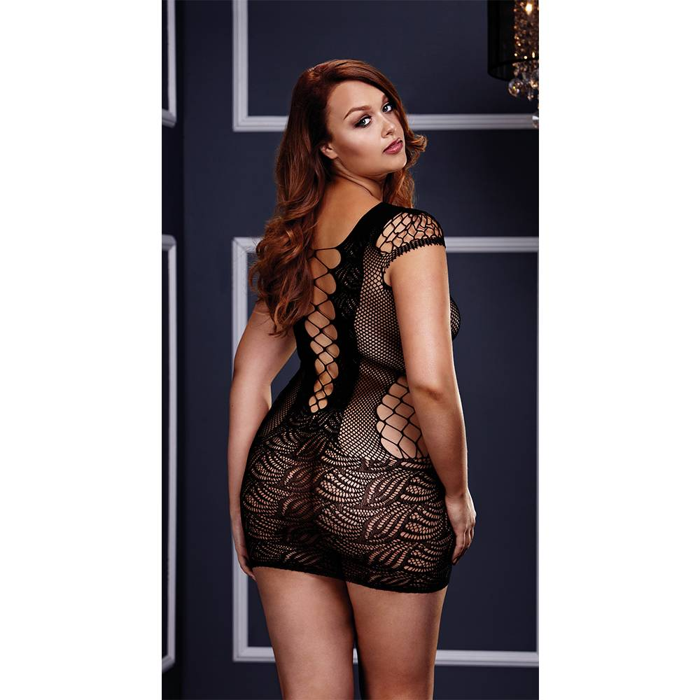 Baci Lingerie Strap and Lace Mini Dress