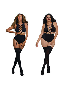 L Body Stockings Crisscross Bodystocking