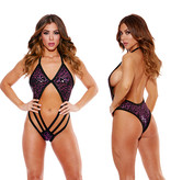Shirley of Hollywood Lingerie Kitty V-Neck One-Piece