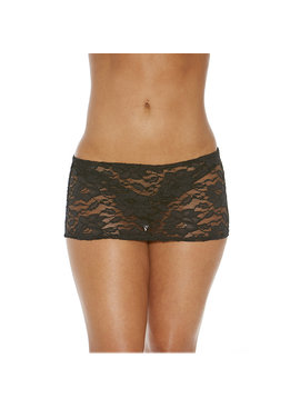 Shirley of Hollywood Lingerie Black Lace Mini Skirt