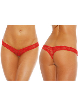 Shirley of Hollywood Lingerie Red Lace V Thong