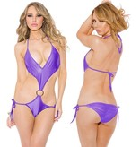 Shirley of Hollywood Lingerie Purple O Ring One-Piece