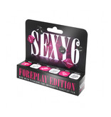 Creative Concept Games Sexy 6 Foreplay Dice