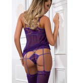 G World Lingerie Strappy Purple Babydoll