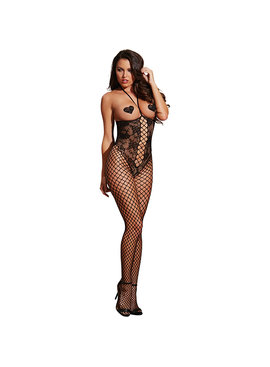 NA Knitted Lace Bodystocking