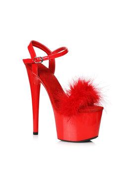 "L Shoes Whitney Marabou 6"" Pump"