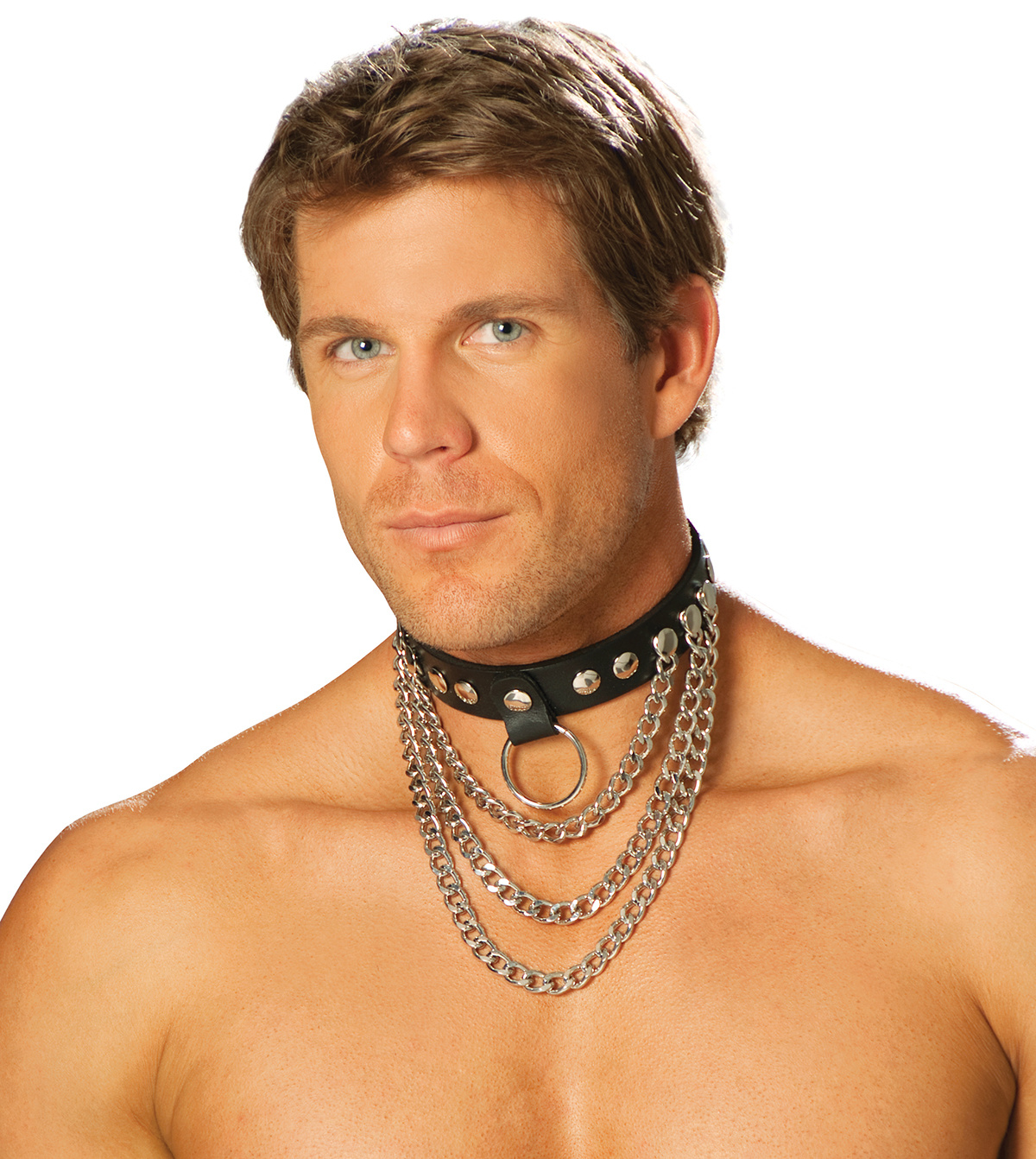 Leather & Chains Collar
