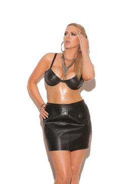 Luscious Leather Bra