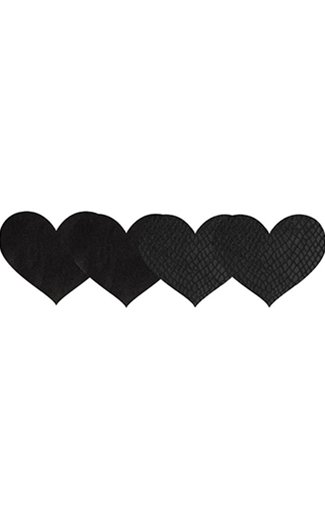L Pasties Classic Black Heart Pasties