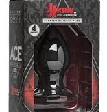 "Doc Johnson KINK - Ace - Premium Silicone Plug - 4"" - Black"