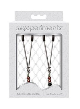Sex Mischief Ruby Black Nipple Clamps