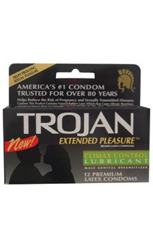 Condoms Trojan Extended Pleasure Condom 12pk