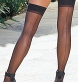 Dreamgirl Lingerie Sheer Thigh High with Back Seam