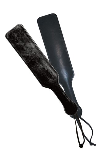 Sportsheets Leather Paddle with Black Fur Side