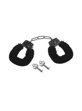 Sex & Mischief Sex and Mischief Black Furry Handcuffs