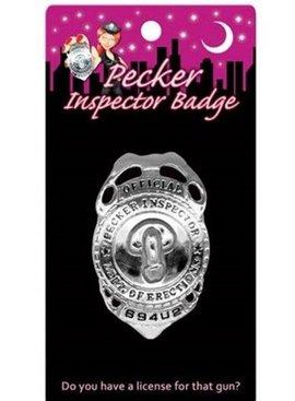 Kheper Games Bachelorette Party Pecker Inspector Badge
