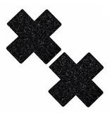 L Pasties Black Glitter X Pasties