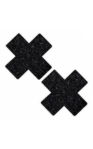 Neva Nude Pasties Black Glitter X Pasties