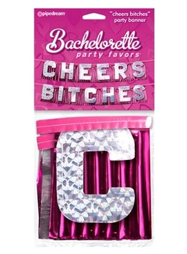 Pipedream Products Bachelorette Party Favors Cheers Bitches Party Banner