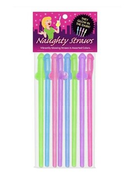 Bachelorette Penis Straws - Glow In The Dark