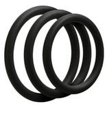 Doc Johnson OptiMALE 3 C-Ring Set Thin - Slate