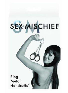 Sportsheets Sex & Mischief Ring Metal Handcuffs