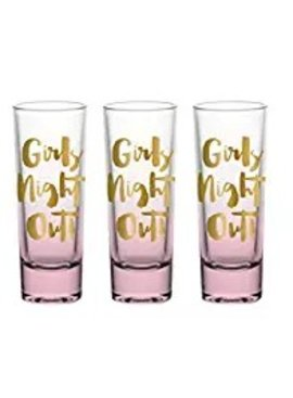 Bachelorette Girls Night Shot Glass Set