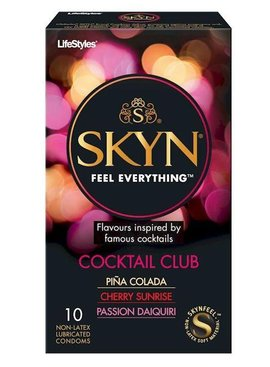 Lifestyle Condoms Skyn Cocktail Club - 10 Pack