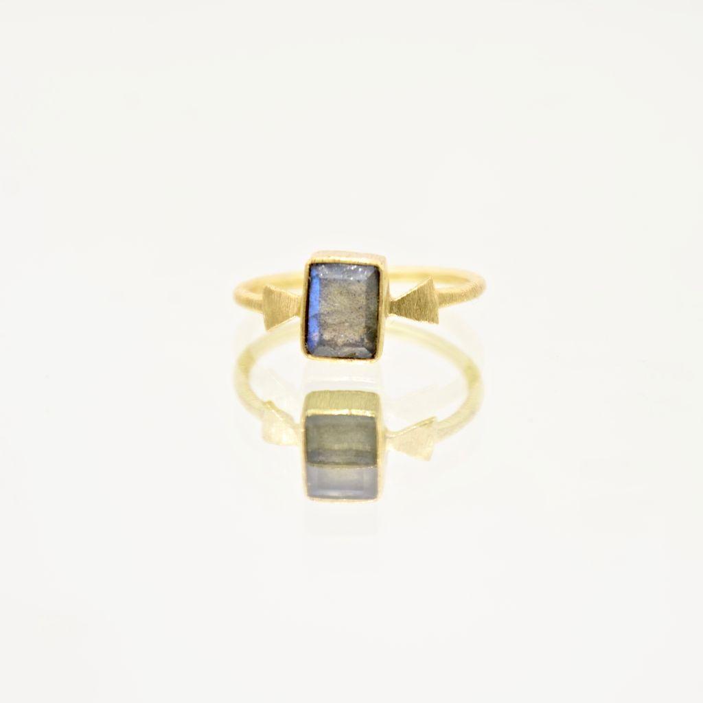Everyday Labradorite Arrow Ring - Size 6