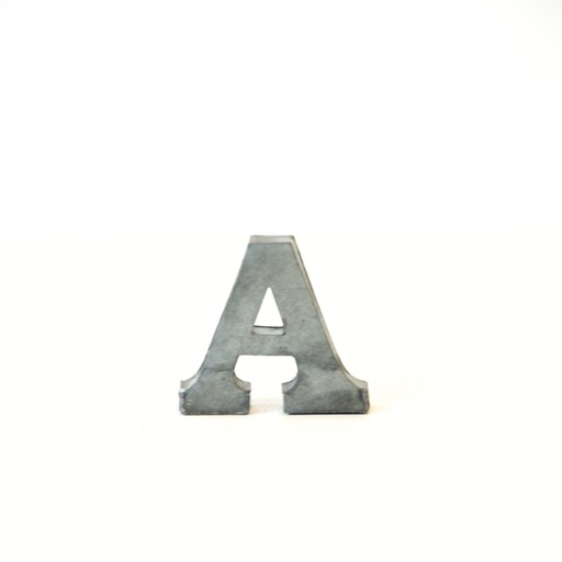 Everyday Metal Alphabet Letters