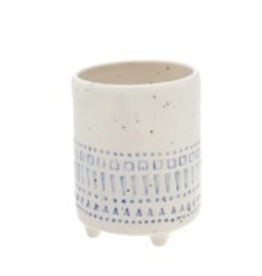 Everyday White & Blue Decor Pot