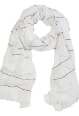 Everyday White & Grey Stripe Scarf