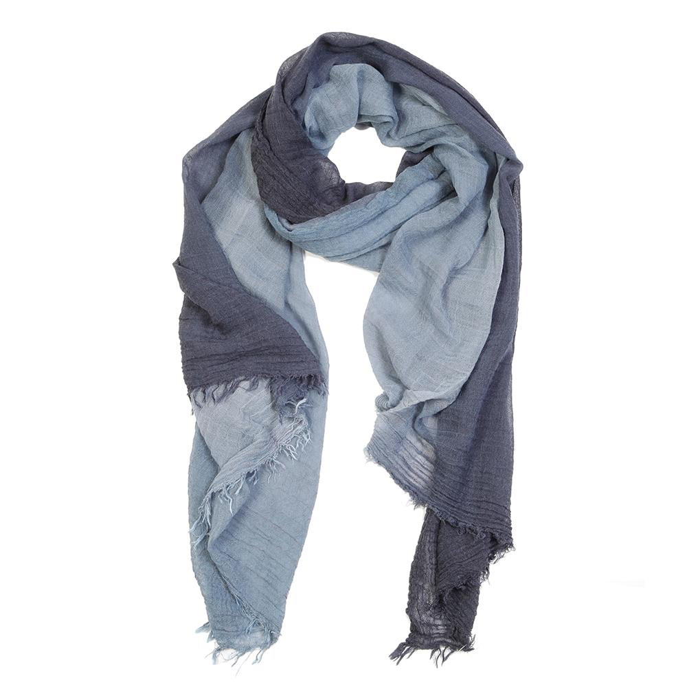 Everyday Lightweight Ombre Navy Scarf