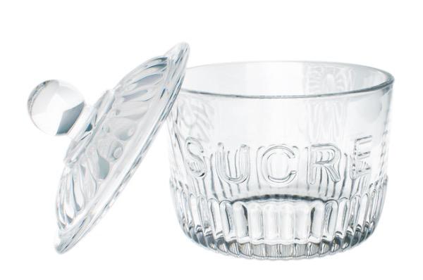 "Everyday Glass Sugar Jar ""Sucre"""
