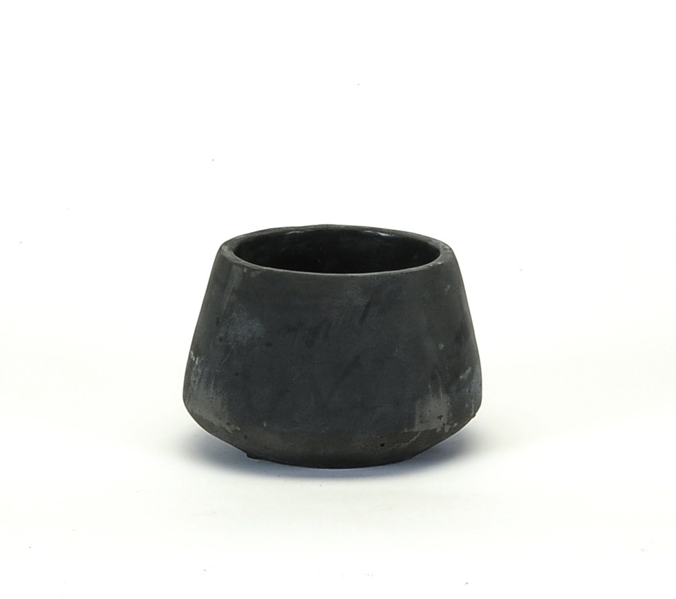 Everyday Black Concrete Pot - Small