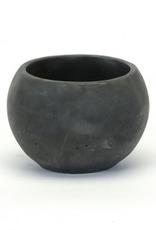 Everyday Black Concrete Round Pot