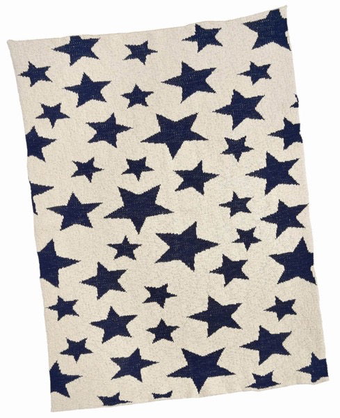 Everyday Navy Star Baby Blanket