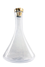 Everyday Carafe with Gold Stopper